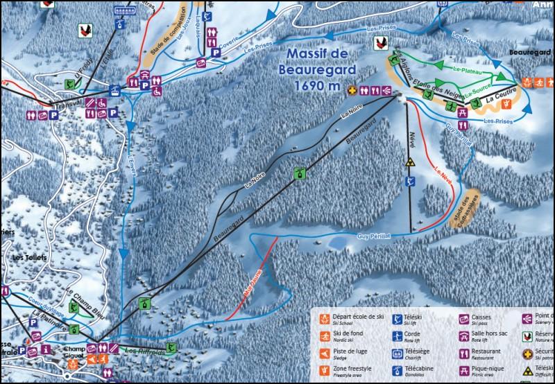 Les pistes de ski du domaine skiable de la Clusaz