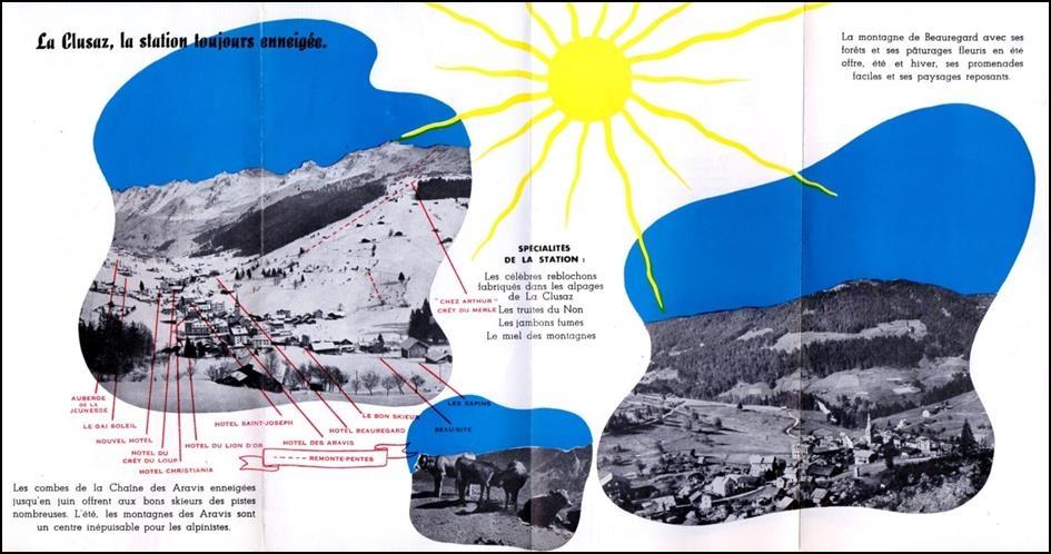 L histoire du d veloppement du tourisme du ski et du domaine skiable de la clusaz - La clusaz office tourisme ...
